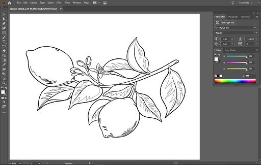 Screenshot of lemons vector illustration