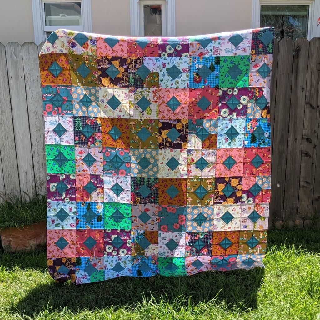 diamonds and squares quilt