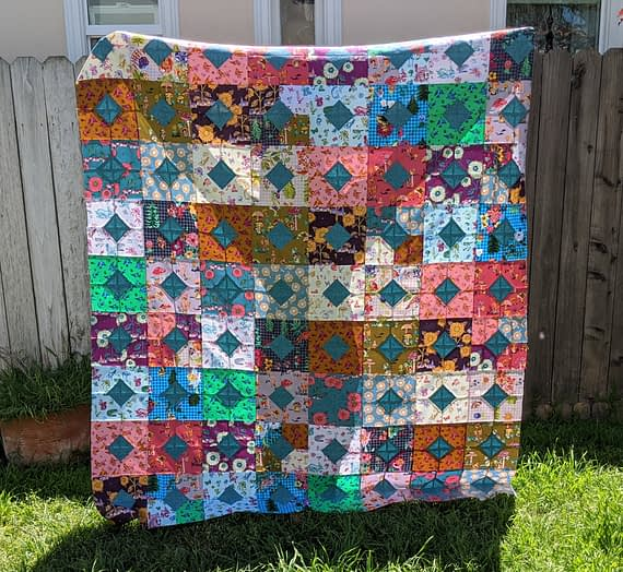 diamonds and squares quilt – pt. 1