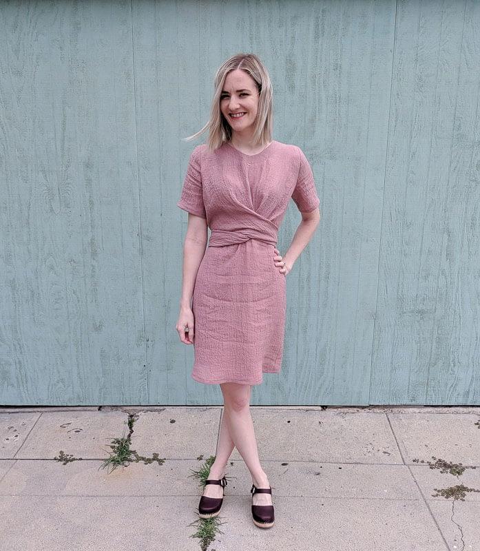 Crinkle Linen Dress