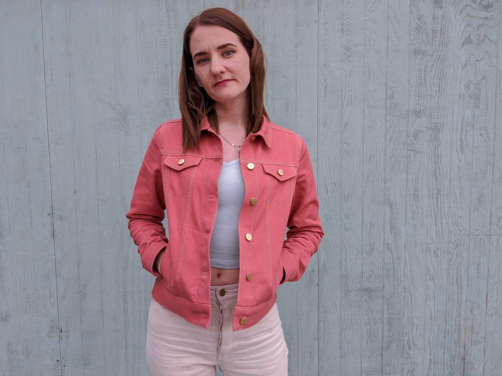 Pink Hampton jean jacket.