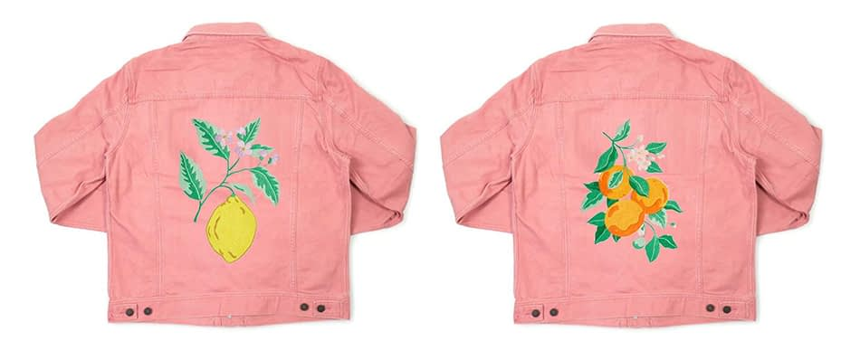 Embroidered denim jacket examples