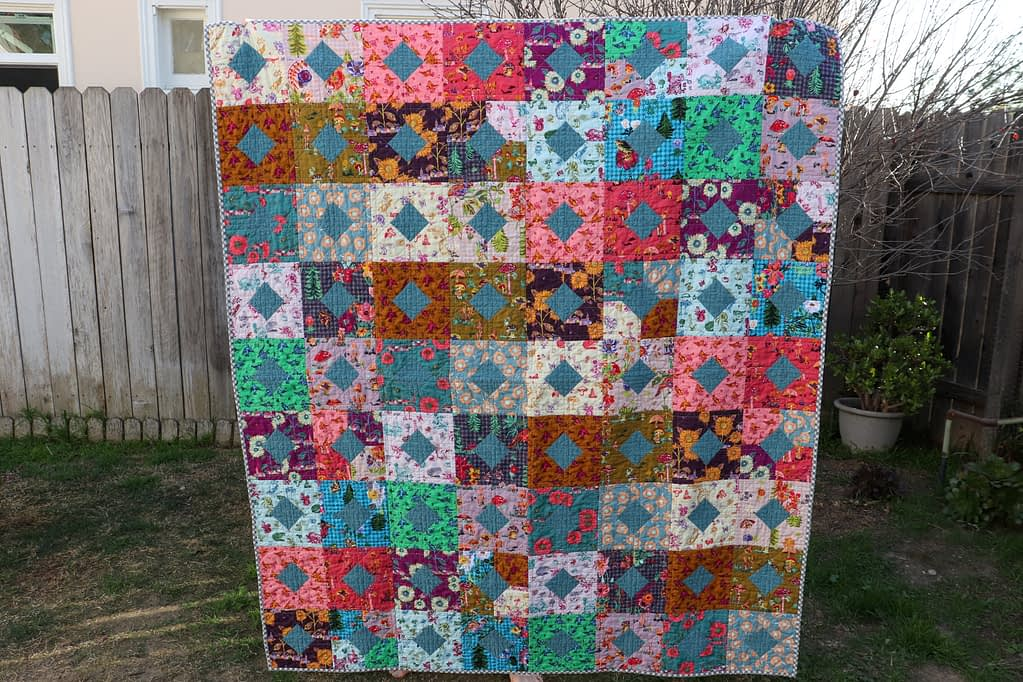 Diamonds and Squares Quilt, Completed