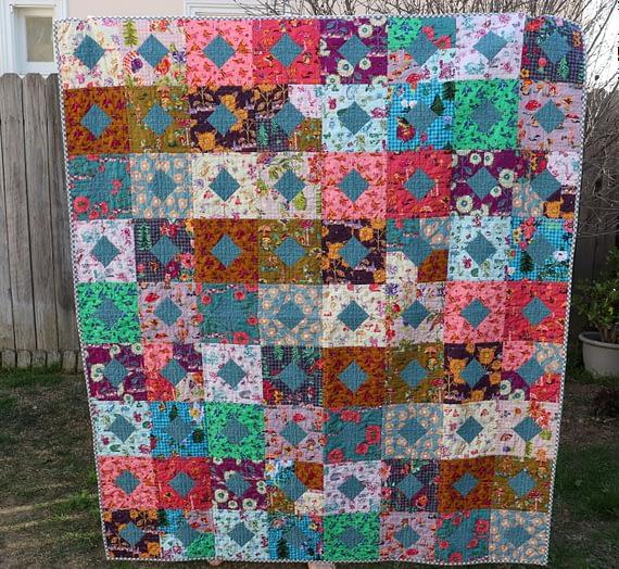 diamonds and squares quilt – pt. 2
