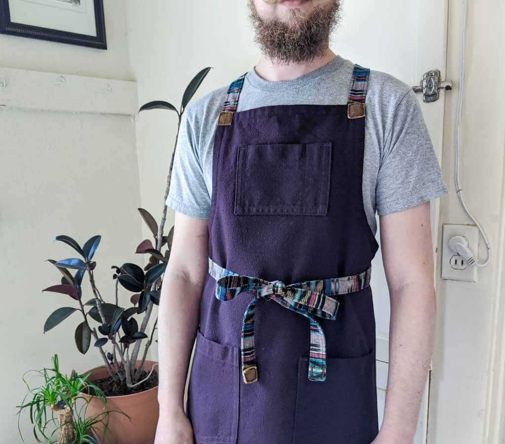 Men's cross-back apron