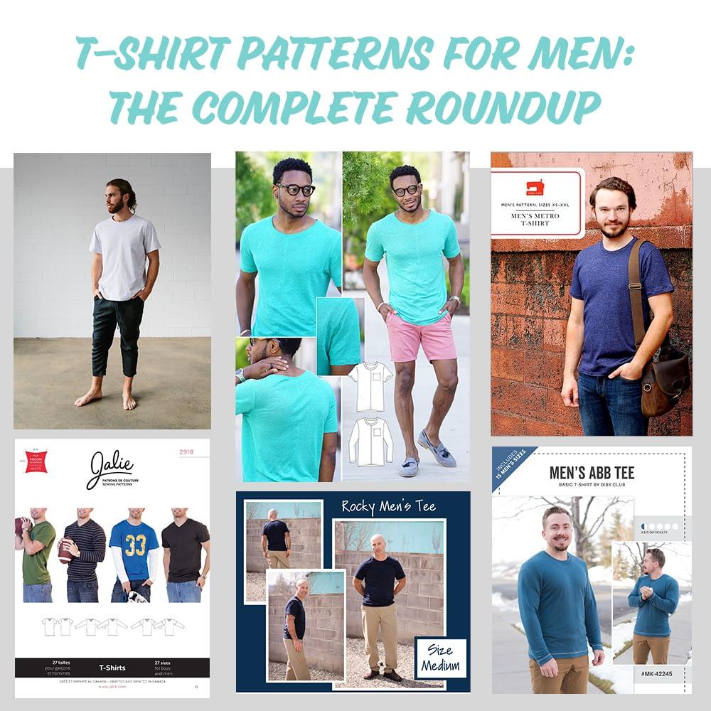 Men's T-Shirt Patterns Complete Roundup