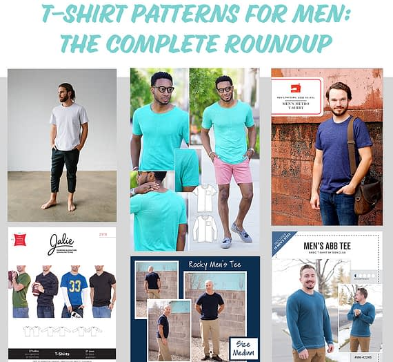 t-shirt patterns for men: the complete list