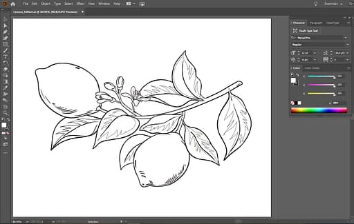 Screenshot of lemons vector illustration