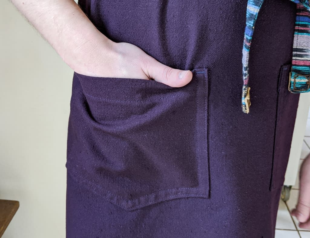 Apron pocket.