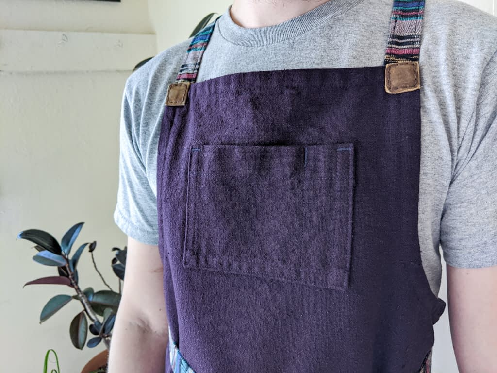 Apron top pocket.
