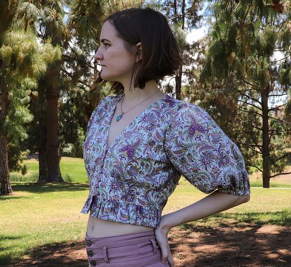 the Orchidée blouse