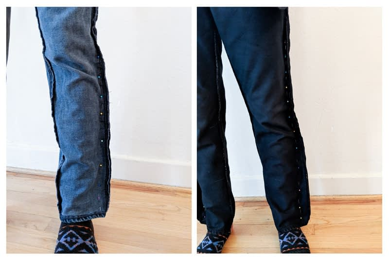how to taper jeans