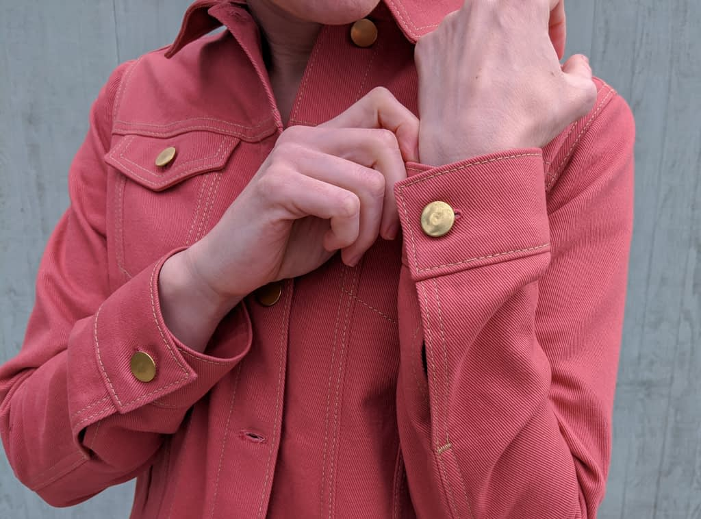 Hampton Jean Jacket Detail Shot