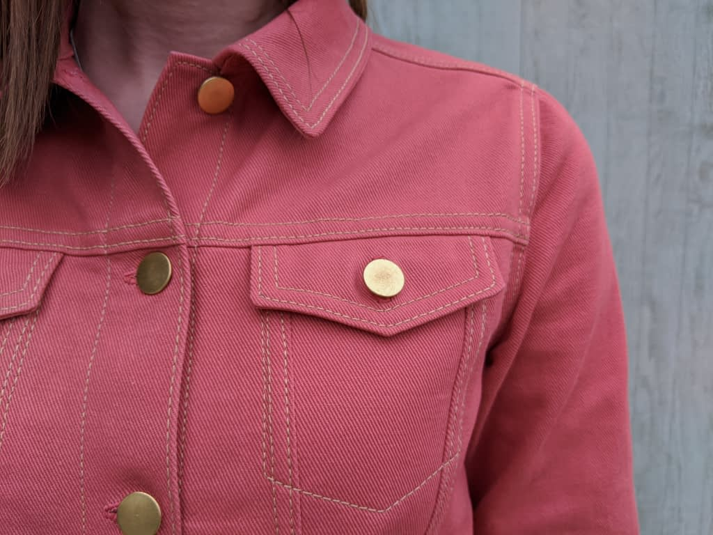 Brass jean jacket buttons